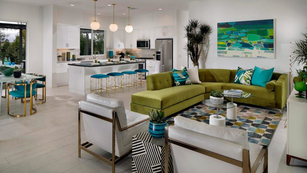 Flair living room and kitchen