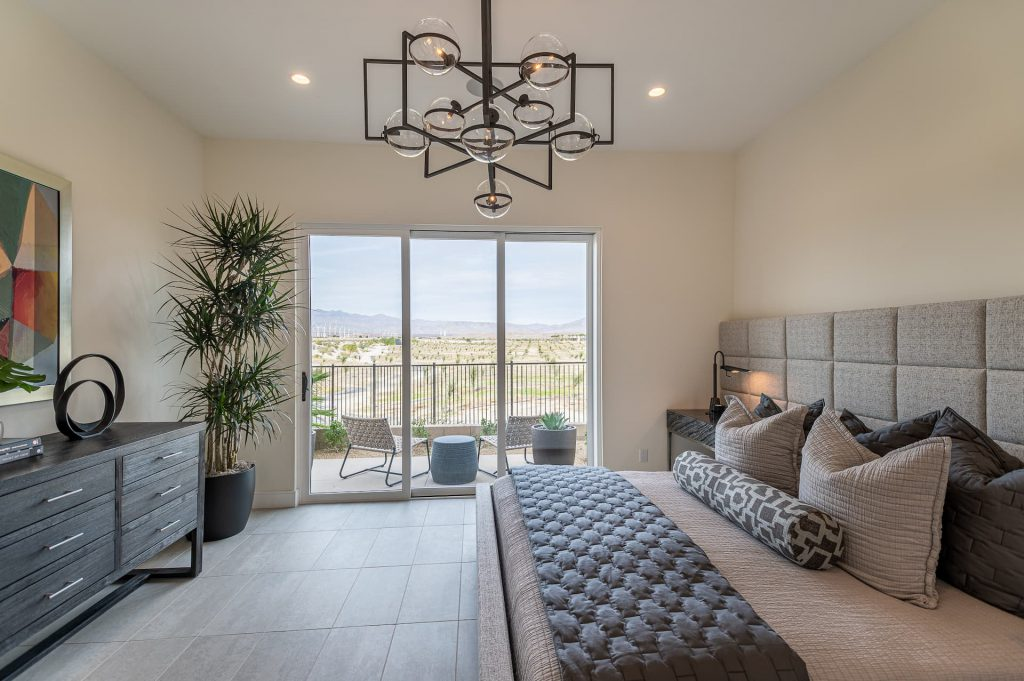 Master Bedroom of residence 3 aura at miralon palm springs
