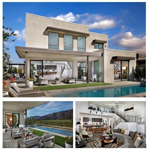external and internal views of the modal homes at Miralon