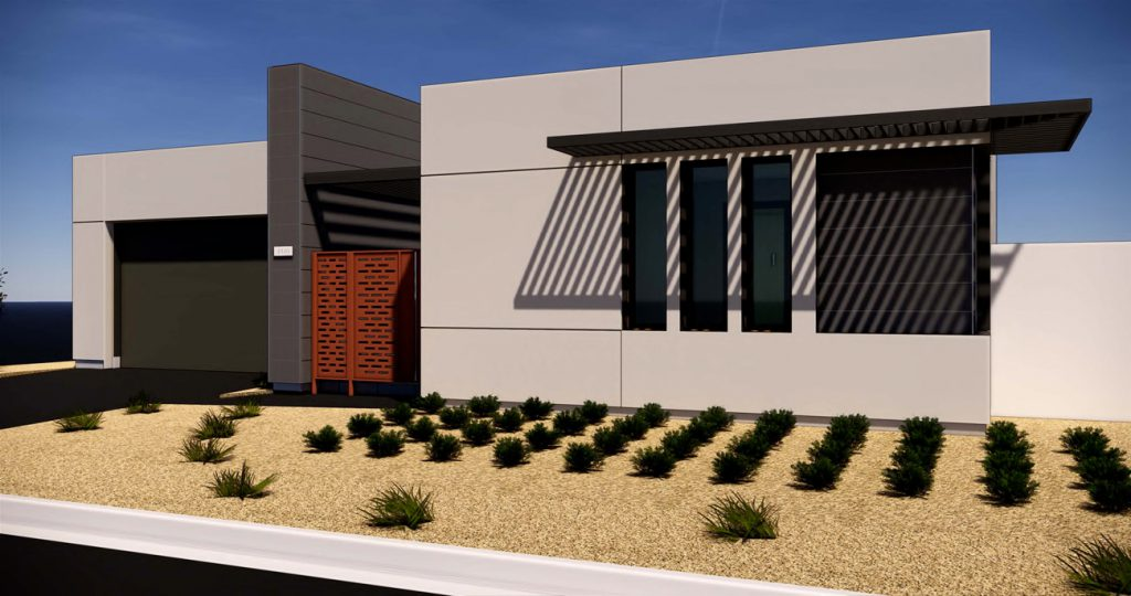 exterior-rendering-Residence-1A-Gallery-at-Miralon-Palm-SpringsGallery Plan 1A