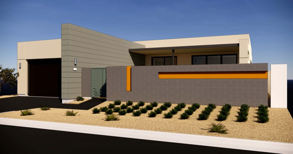 exterior rendering Residence 2A Gallery at Miralon Palm Springs