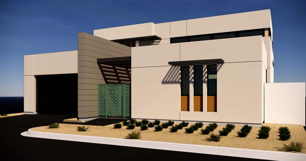 exterior rendering Residence 4A Gallery at Miralon Palm Springs